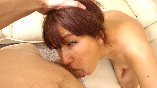 Adorable Teen Gags On Huge Cock